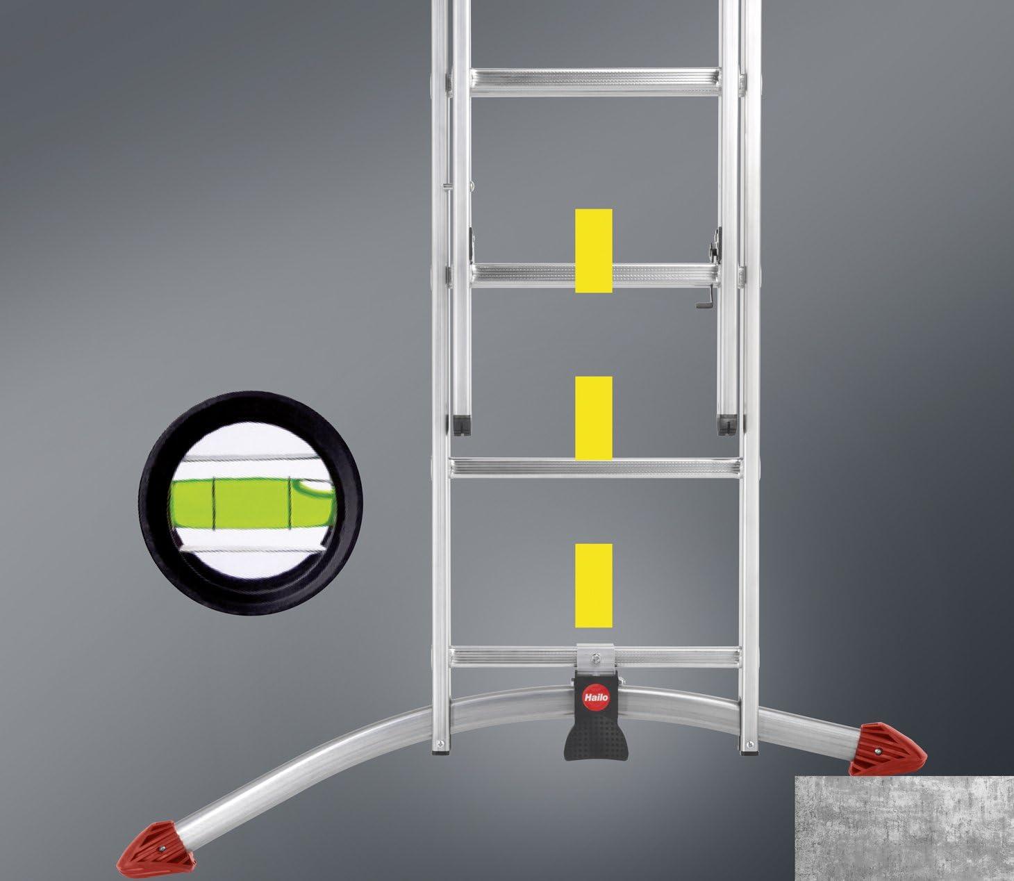 Hailo 9312-101 - Escalera multifunción (aluminio), color: plateado: Amazon.es: Bricolaje y herramientas