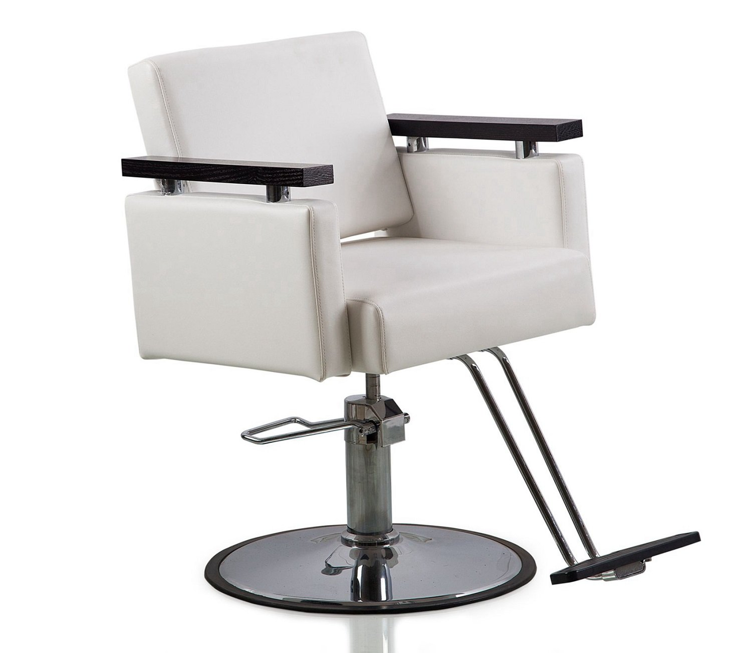Danyel Beauty Professonal Hydraulic Barber Chair Salon Beauty Spa Hair Styling Chair (round base, white color) by Danyel Beauty