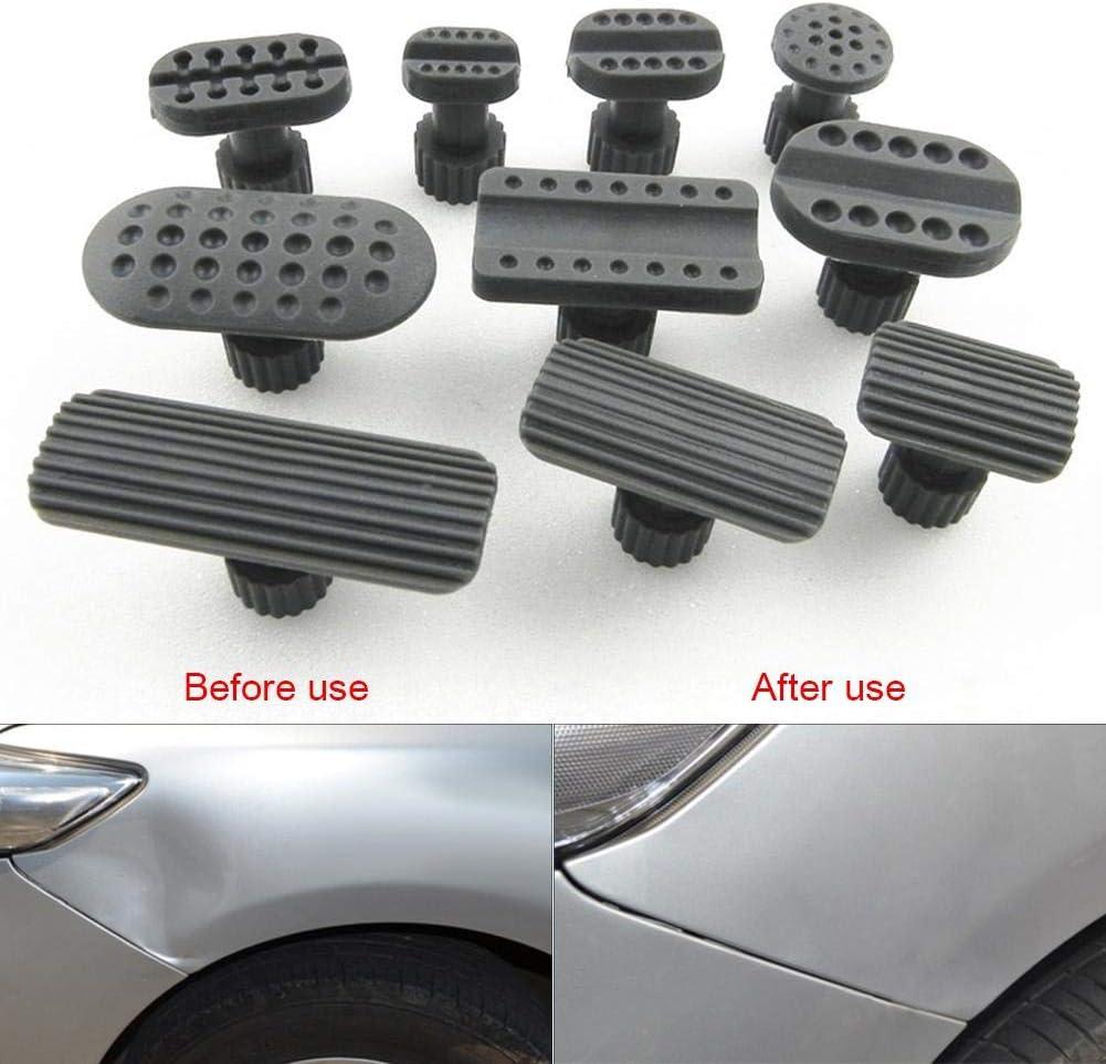 Dent Plastic Gasket Puller Dent Gasket 10pcs Automobile Sheet Metal Repair Gaskets Recessed Hammer Car Paintless Dent Puller Suction Cup