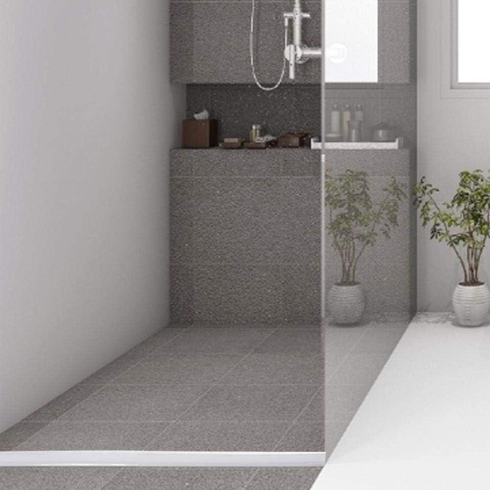 Tira de sellado para mamparas de ducha, tipo H, para puerta de baño, sello de puerta de ducha, banda de sellado de protección contra salpicaduras, impermeable, autoadhesiva, flexible, impermeable, 1 m, 1,2