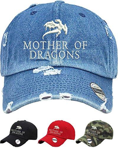 (Allntrends Adult Vintage Dad Hat Mother Of Dragons Embroidered Cap (Red))