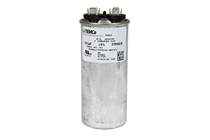 amazon com temco motor run capacitor rc0013 40 mfd 370 v vac volt rh amazon com