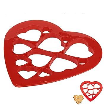 molyveva cortador de galletas con 12, forma de corazones, Sandwich tartas moldes para dulces caseros Donuts magdalenas y Fondant galletas: Amazon.es: Hogar
