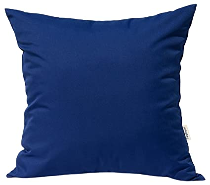 Amazon Com Tangdepot Durable Faux Silk Solid Pillow Shams Square