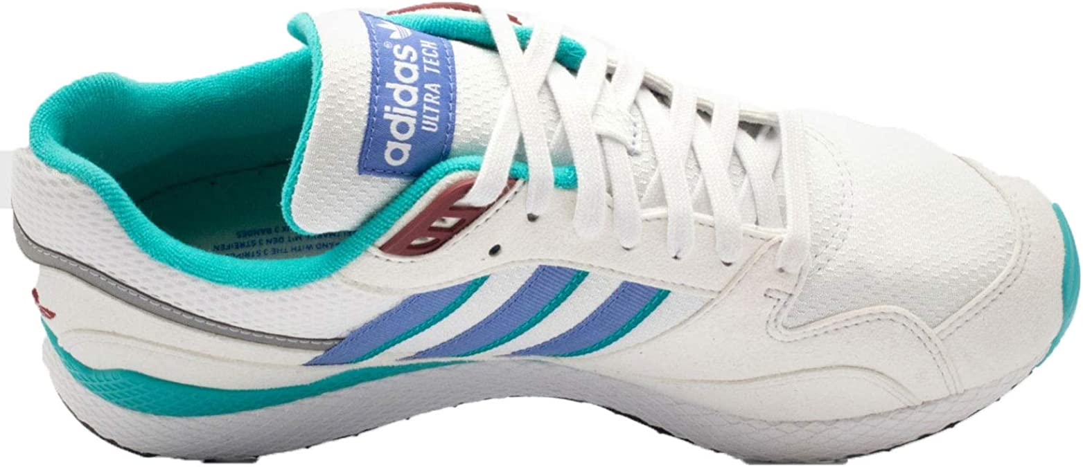adidas Mens Ultra Tech Crystal White/Lilac Synthetic