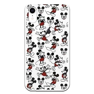 Carcasa Oficial de Disney Mickey Patrón Clear para iPhone XR - La Casa de Las Carcasas