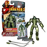 Movie Marvel Year 2010 Iron Man 2 Series 4 Inch Tall Figure #16 - WEAPON ASSAULT DRONE with Poseable Shield Panels, Detachable Saw Blades and Figure Display Stand Plus 3 Armor Cards