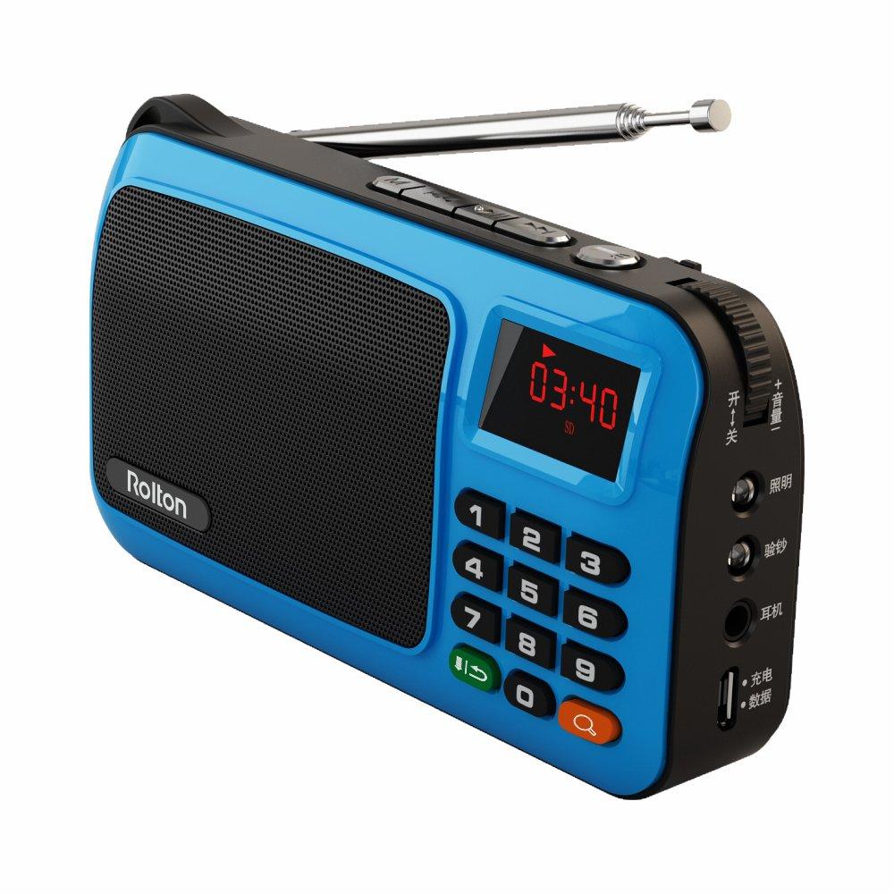 Amazon.com: Rolton W405 Portable Mini FM Radio Speaker Music Player ...