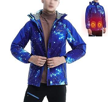 Chaqueta TéRmica EléCtrico USB Calefactable Jacket Encapuchado Invierno Hombre CáLido Ropa Impermeable para Acampar Al Aire Libre: Amazon.es: Deportes y ...