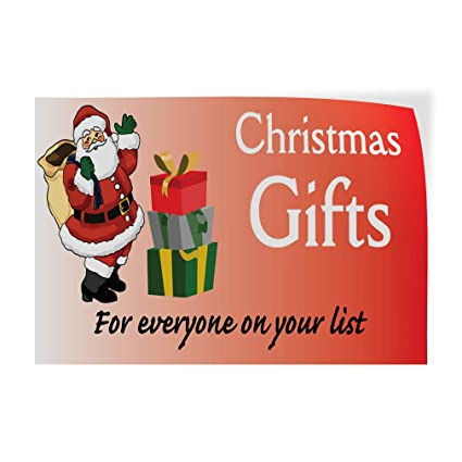 0d0a99d476 Image Unavailable. Image not available for. Color: Decal Sticker Christmas  Gifts for Everyone On Your List Holidays and ...