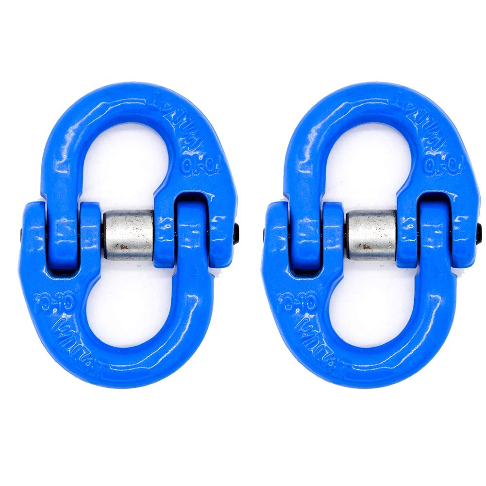 MEETA G80 European Type Connecting Link Drop Forged Alloy Steel Chain Coupling Link, Hammer Lock Chain Connector (Size : 7-8)