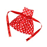 MagiDeal Fashion Red Sleeveless Party Dress wi/ Dots for 18'' American Girl AG Doll Accessories