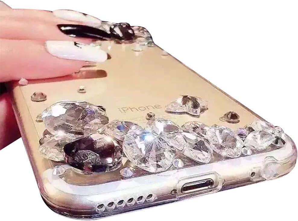 Case for Samsung Galaxy A51,Cistor Luxury 3D Handmade Full Bling Diamond Glitter Sparkle Gemstone Rhinestone Hard PC Back Cover Soft Frame Protective Case for Samsung Galaxy A51,Blue Crystal