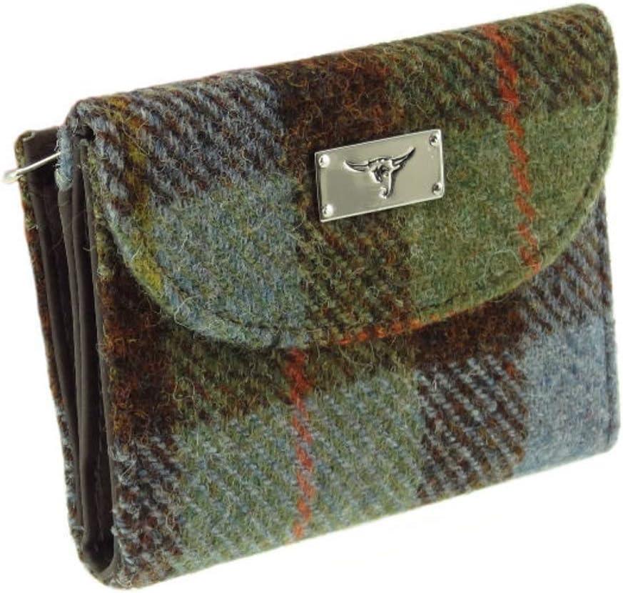 Glen Appin Harris Tweed Ladies Small Purse LB2002 Colour 15 Gunn Tartan