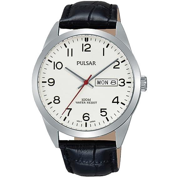 Pulsar Hombre Reloj de Pulsera analógico Cuarzo Piel pj6065 X 1
