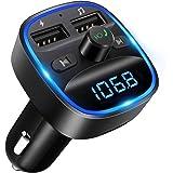 LENCENT [2020 Versión] Transmisor FM Bluetooth para Coche, Manos Libres Inalámbrico Reproductor MP3 Coche, Adaptador de…
