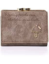 Women's Nubuck Leather Wallet Card Holder small Coin Purse/Gift for Girls(Gift Box)