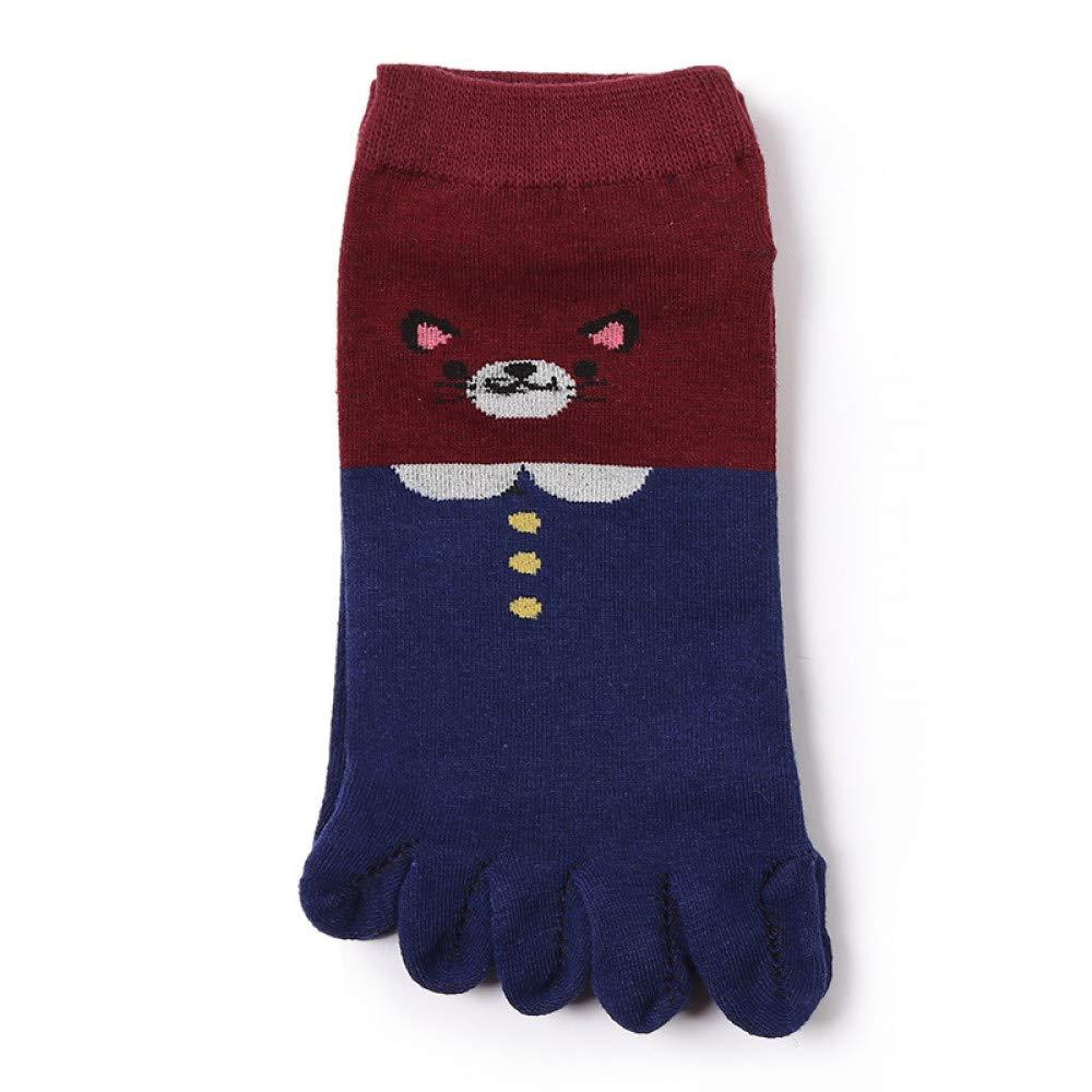 KALENAME (20 Pairs Ladies Socks Ladies Five Finger Socks Shallow Mouth Expression Pack Cotton Socks