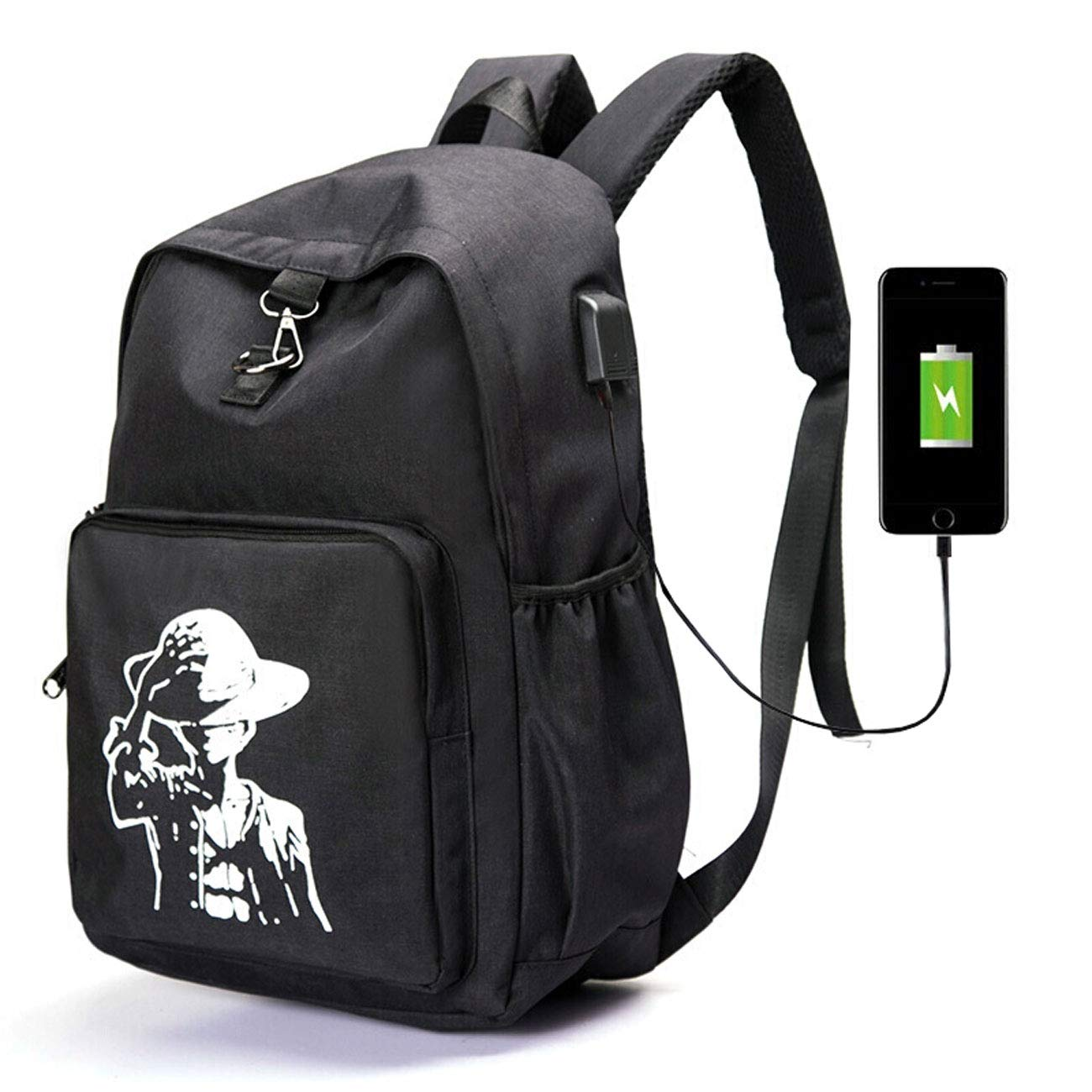 fa1be95979a9 Amazon.com: Waterproof Anti-Theft Backpack with USB Charging Port ...