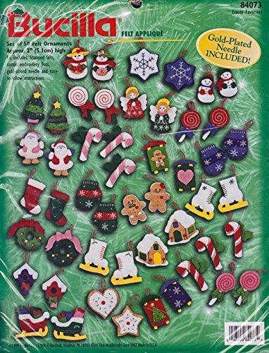 Bucilla Frosty Favorites - Set of 50 Felt Ornaments - #84073 (Ornament Favorite Frostys)