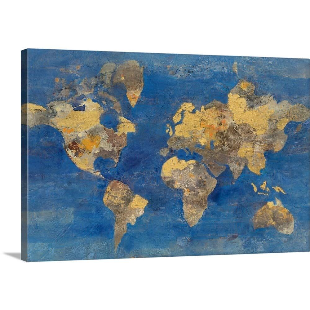 Albena Hristovaプレミアムシックラップキャンバス壁アート印刷題名Golden World 36