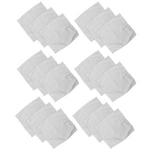 Com-Four Lot de 18 lingettes de nettoyage du visage en microfibre Format Économe