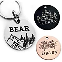 YiXiEr Cute Custom Pet ID Tags, Dog Tag and Cat Tag Personalized Engraved Double Sided…