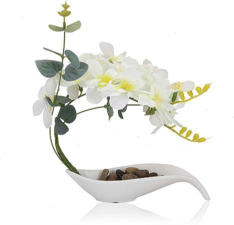 """Nouveau Artificiel Primrose /""""en pot/"""" Soie Artificielle Plante 19 cm Rose"""