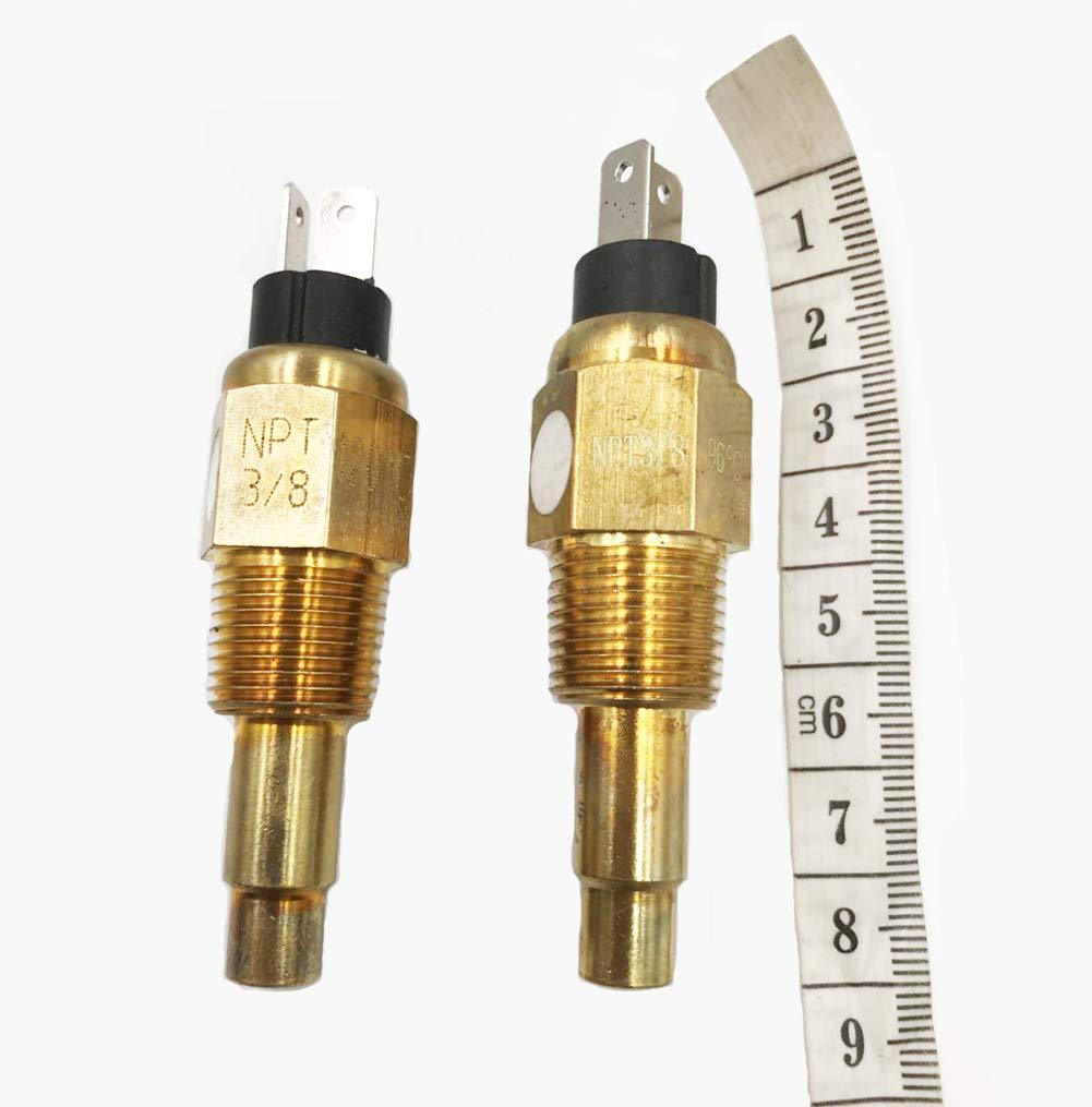 Samdo Water Temp Temperature Sensor Sender 3//8-18NPT Thread For Water Temp Gauge