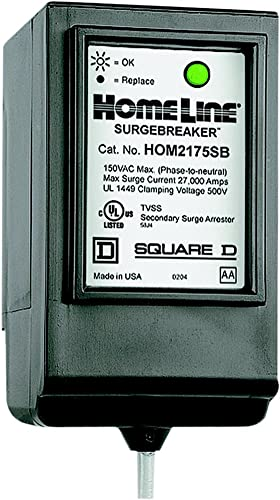 Square D by Schneider Electric HOM2175SB Homeline SurgeBreaker Surge Protective Device Takes 2 Load Center Spaces