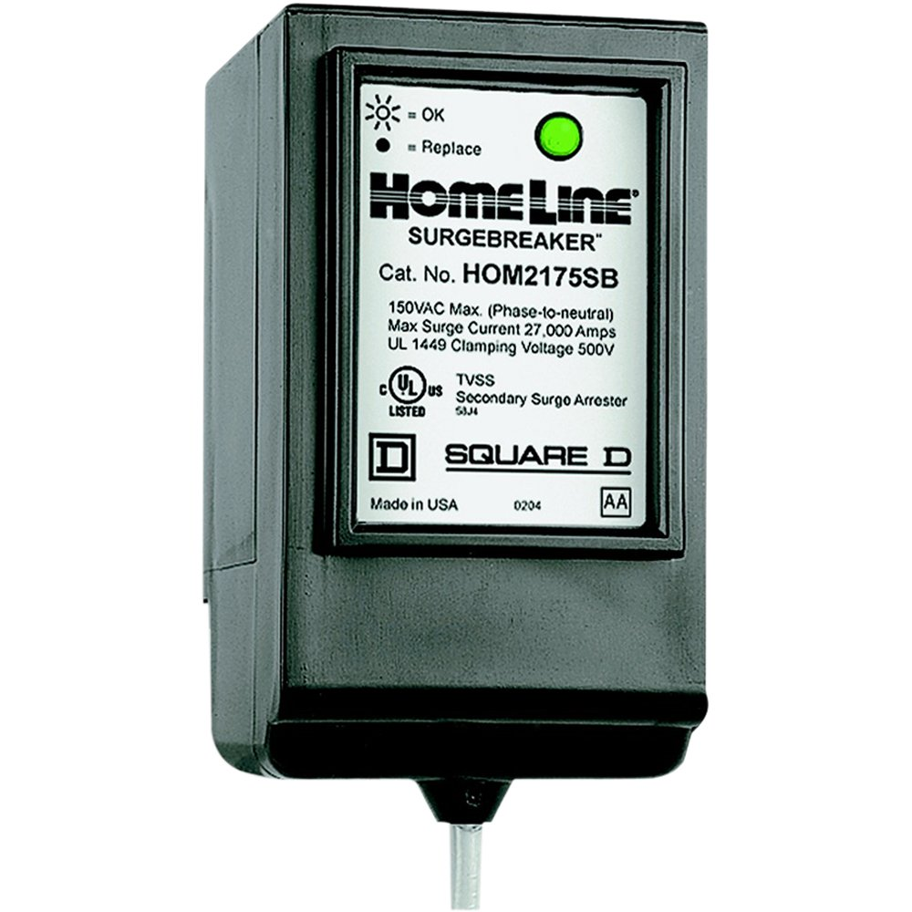 Square D by Schneider Electric HOM2175SB Homeline SurgeBreaker Surge Protective Device Takes 2 Load Center Spaces by Square D by Schneider Electric