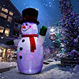 UNIFEEL 8FT Inflatable Snowman for Christmas and New Year Home Indoor and Outdoor Decoration