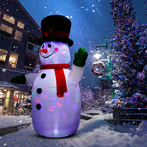 UNIFEEL 8FT Inflatable Snowman for Christmas and New...