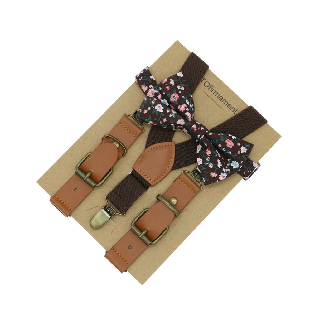 Love Leather Shape Kids Suspender Bow Tie Ring Bear Boy Packed Gift Adjustable 12 by ADJES (Image #7)
