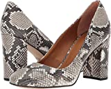 Franco Sarto Women's Aziza Shiny Printed Natural Snake 9 B(M) US