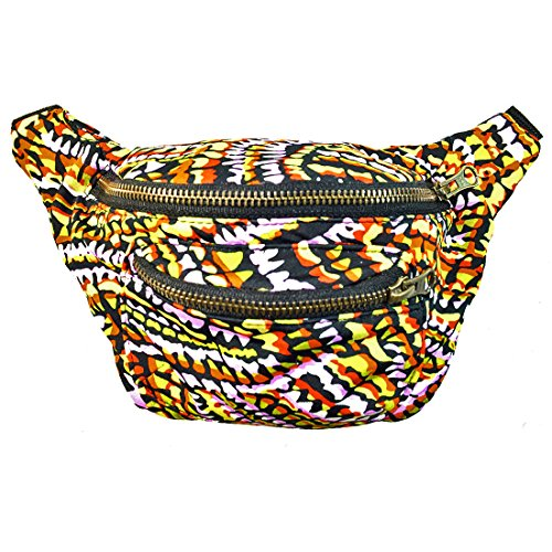 Price comparison product image Acid Party Fanny Pack, Stylish Party Boho Chic Handmade with Hidden Pocket by Santa Playa (Chocolate Orange)