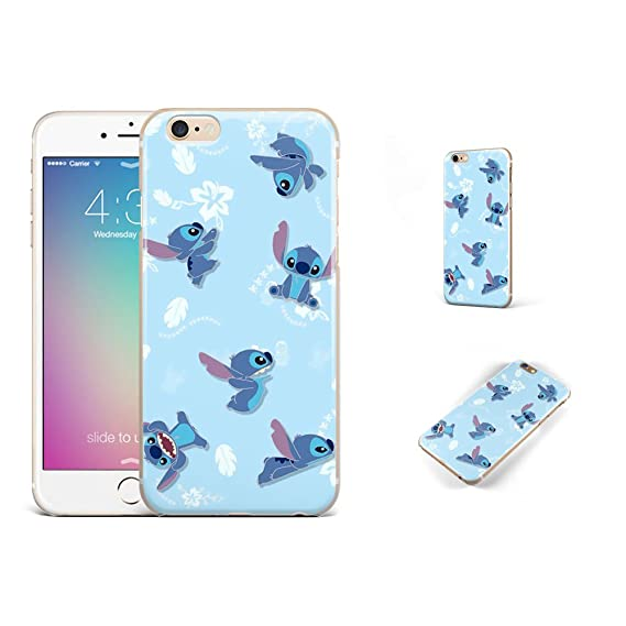 18ac7961870 Amazon.com: GSPSTORE iPhone 7 case Lilo & Stitch Disney Cartoon Cute Case  Hard Plastic Protector Cover for iPhone 7#color10: Cell Phones & Accessories