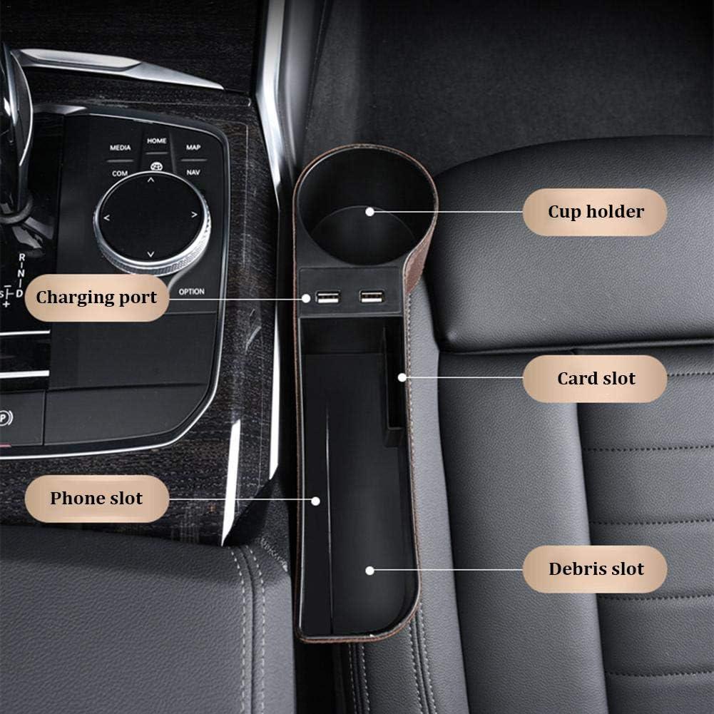 Draulic Auto Aufbewahrungsbox Universal Auto Seat Gap Organizer Konsole Seitentasche Ledersitz Spalt Aufbewahrungsbox f/ür Brieftasche Telefon M/ünzen Zigarettenschl/üssel