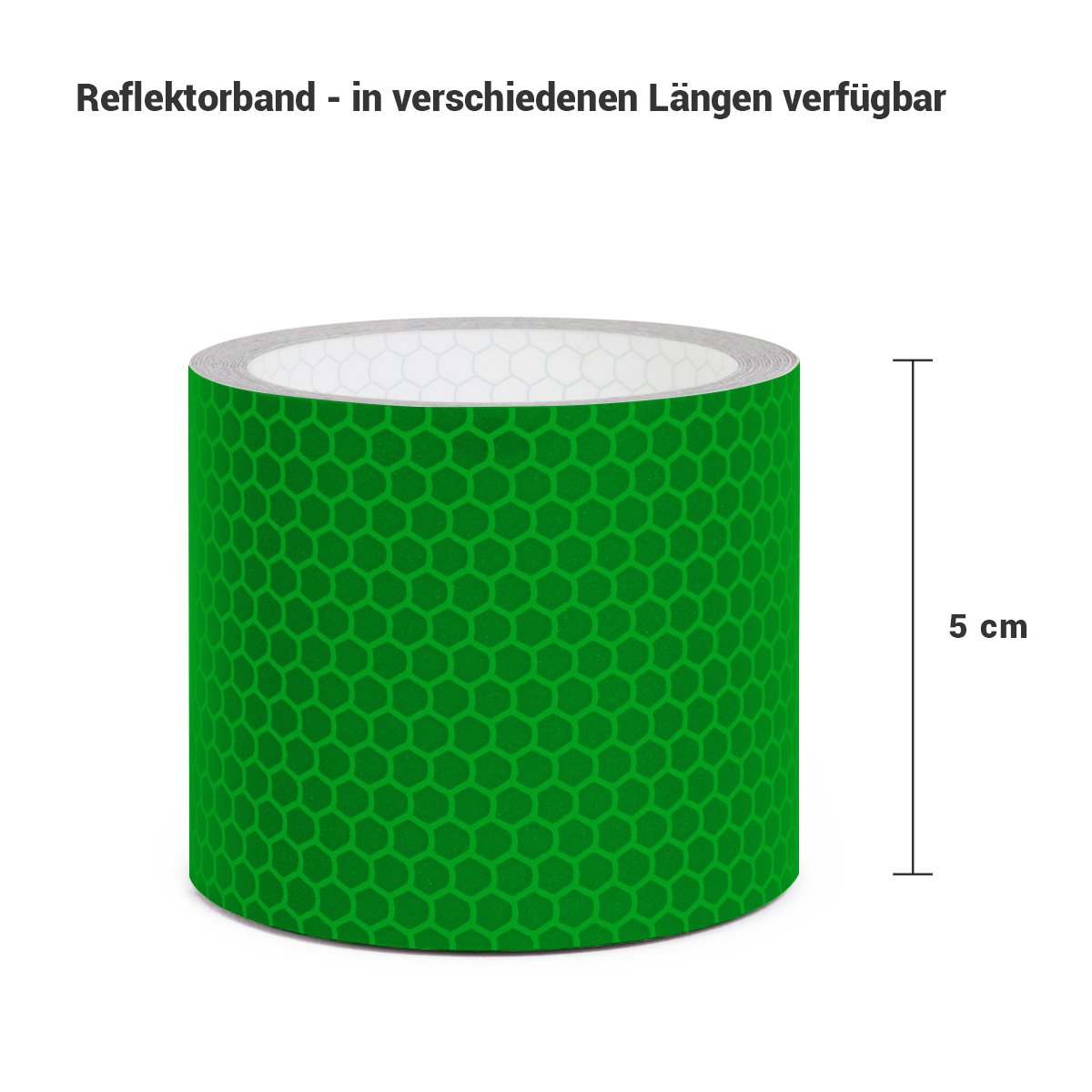 5cm breit L/änge und Farbe w/ählbar Gelb Motoking Reflektorband mit Wabenmuster f/ür mehr Schutz /& Sicherheit in der Dunkelheit 10m Meter lang