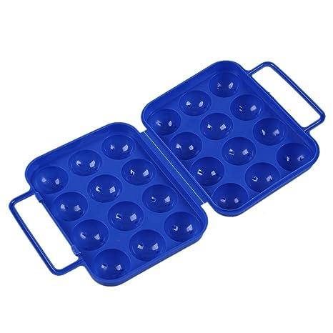TOOGOO Caja estuche de transporte de huevos de plastico ...