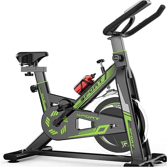 Bicicleta Spinning Profesional,Bicicleta Estatica LCD Pantalla Electronica Sensor de Frecuencia Cardiaca,Resistencia Variable Asiento Manillar Ajustables Bici Spinning Capacidad de Carga 120 (kg): Amazon.es: Deportes y aire libre