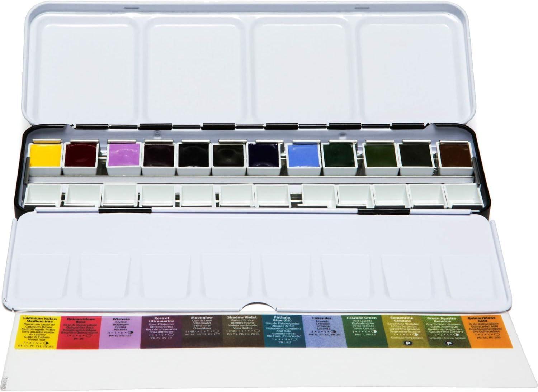 Sedensy Lot de 48 bo/îtes vides pour Aquarelle en Treillis 21,3 x 10,8 x 2 cm