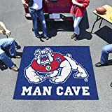 "NCAA Fresno State Man Cave Tailgater Rug, 60"" x 72""/Small, Black"