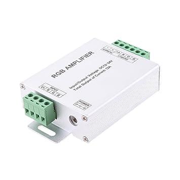 Gazechimp 1x LED Amplificador RGB Electrónica de Consumo AntiChoque Compatibilidad Universal Duradero Acepta Señal PWM