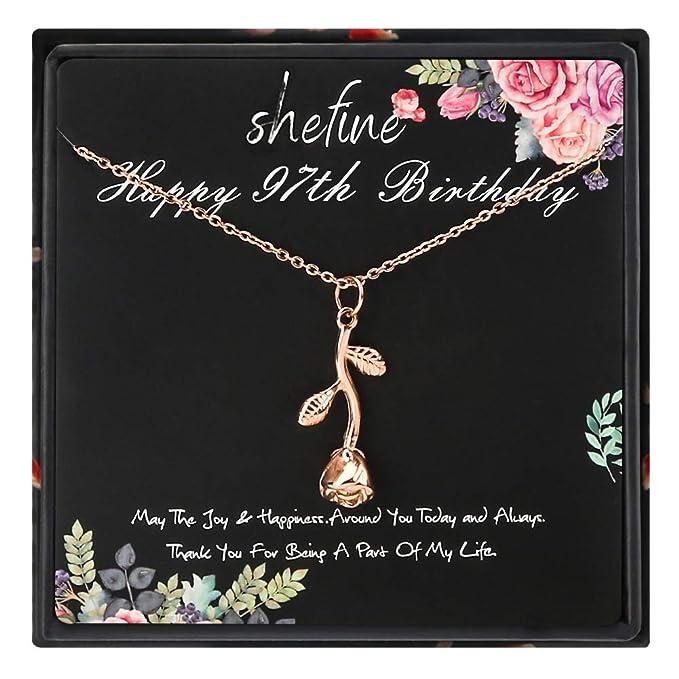 Amazon.com: 97º cumpleaños regalos para mujeres – Collar de ...