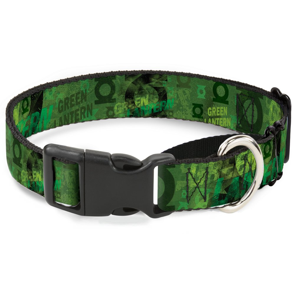Buckle-Down MGC-WGL012-M Green Lantern Martingale Dog Collar, 1  Wide-Fits 11-17  Neck-Medium