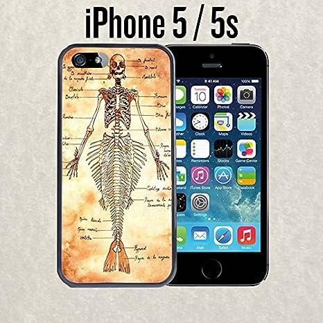 iPhone Fall Meerjungfrau Anatomie für iPhone 5/5S Gummi schwarz ...