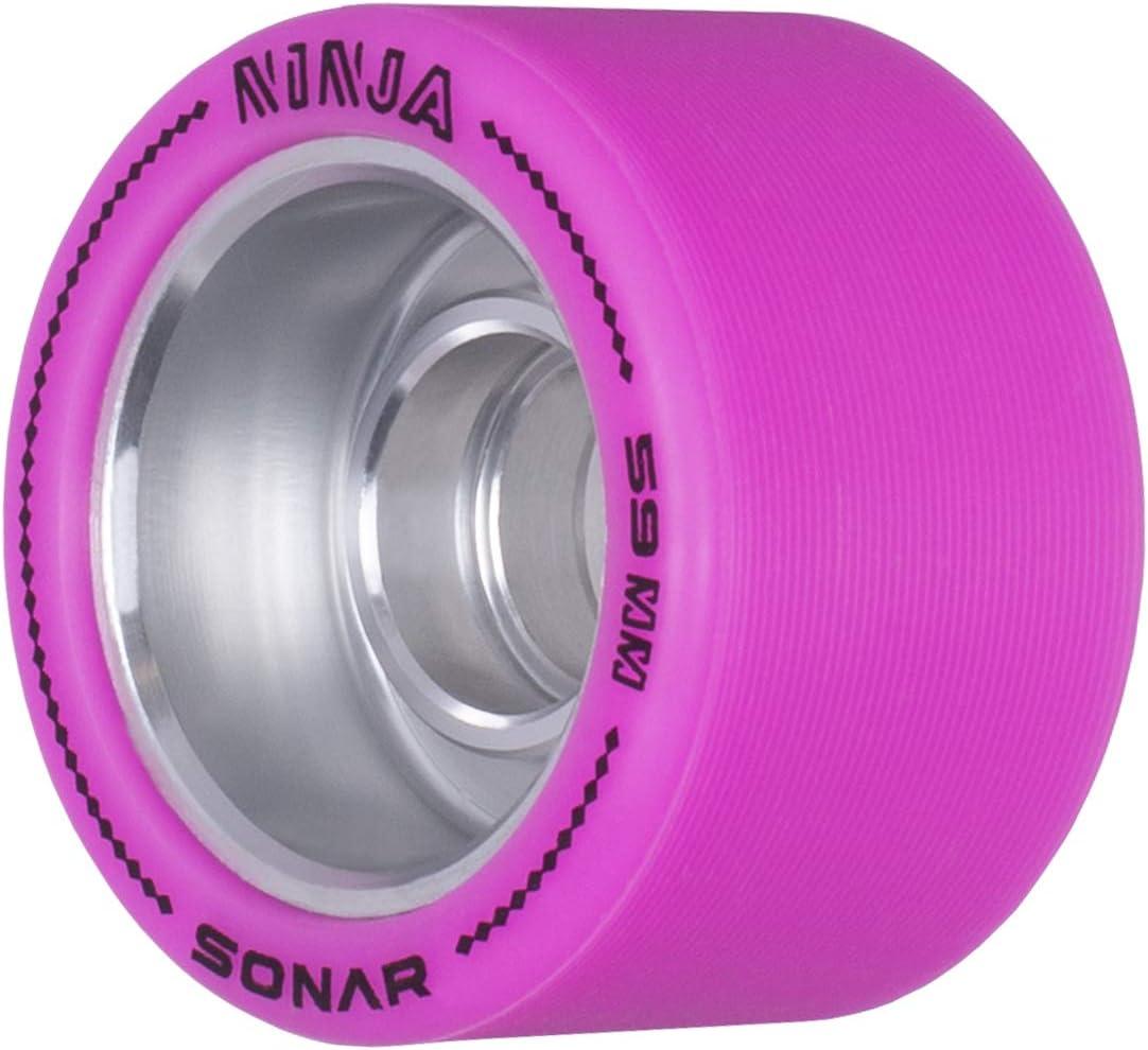 Ninja Sonar Wheels 4 Pack of 59mm x 38mm Wheels Agile Roller Skate Wheels
