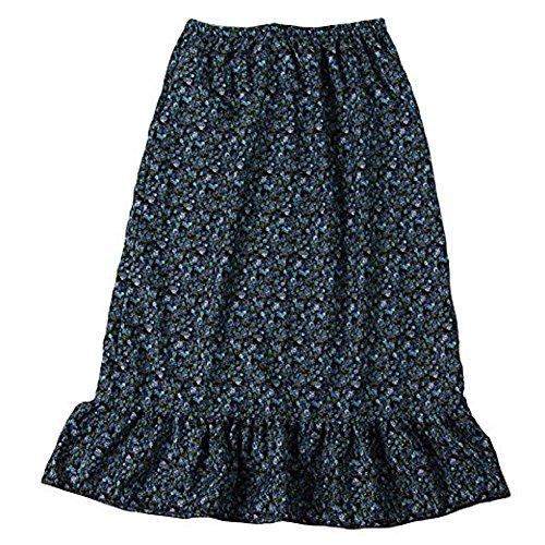 Making Believe Women's Calico Pioneer Peasant Costume Skirt (Women's Small 2/4, Blue)
