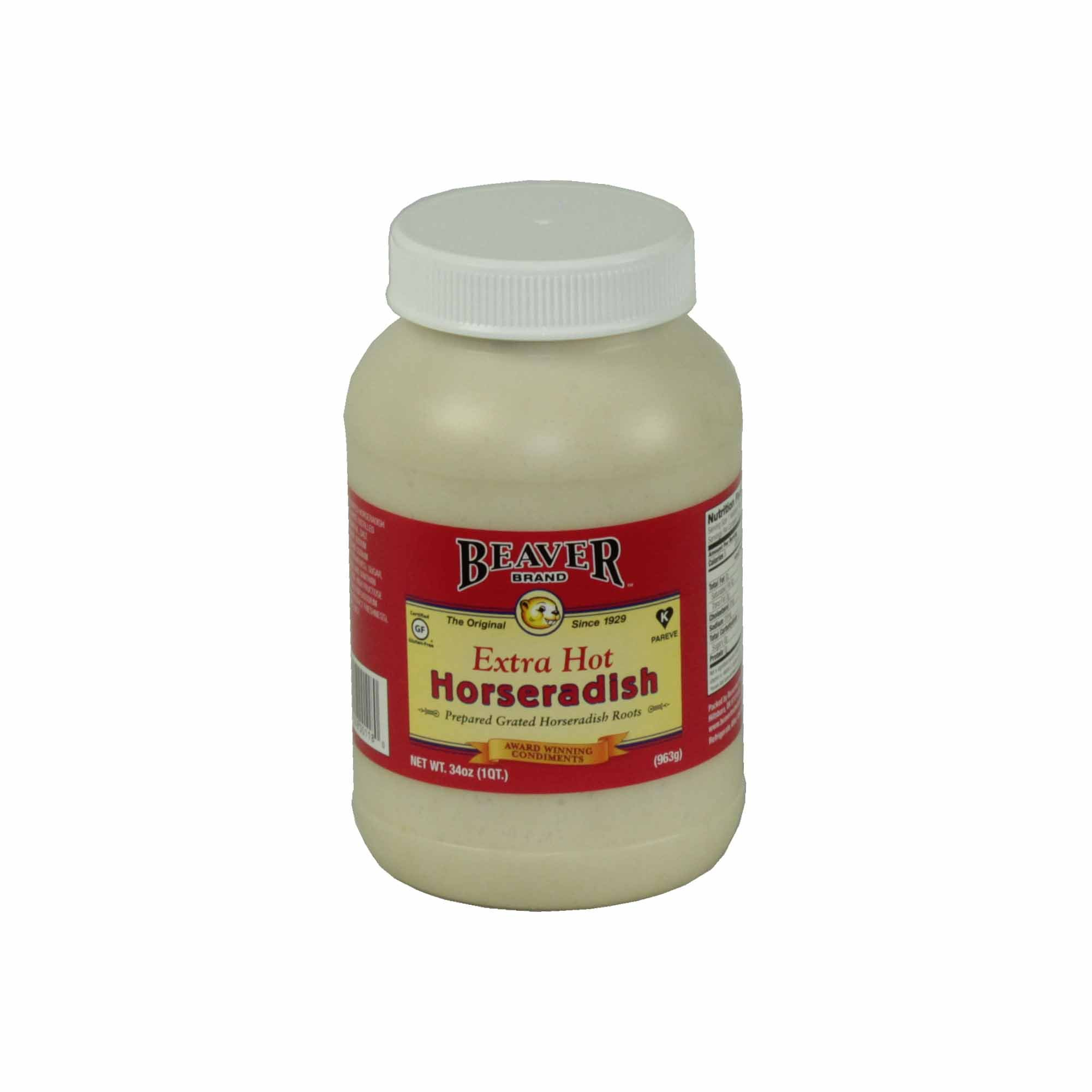 Beaver, Extra Hot Horseradish 34 oz. (12 count)
